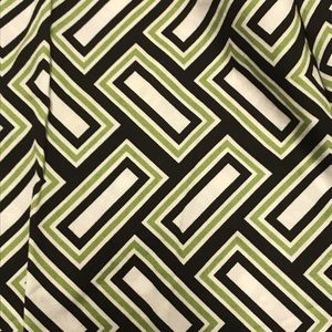 MK geometric print green brown skirt